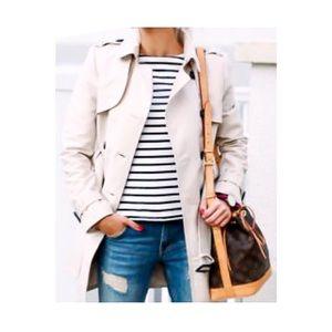 Zara Basics White Trench